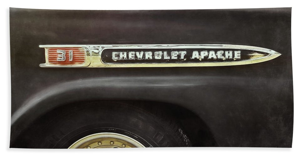Classic Car Bath Towel featuring the photograph 1959 Chevy Apache 1959 by Scott Norris