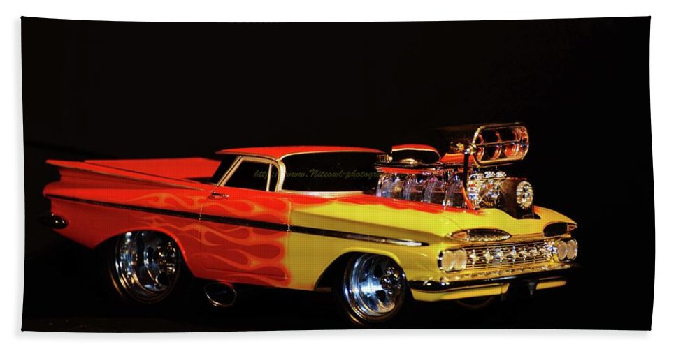 Cars Bath Sheet featuring the photograph 1959 El Camino by Kenneth Greathouse