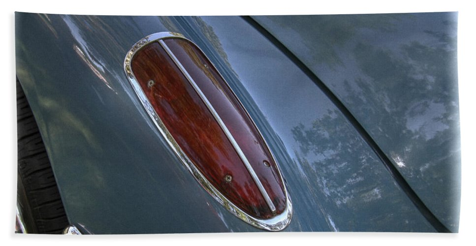 1960 Hand Towel featuring the photograph 1960 Chevy Corvette Taillight by Nick Gray