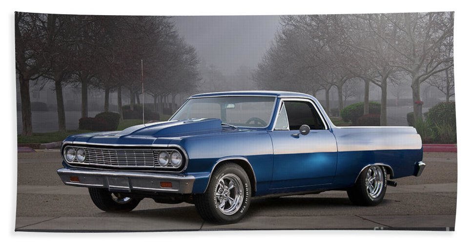 Automobile Hand Towel featuring the photograph 1964 Chevrolet El Camino IIi by Dave Koontz