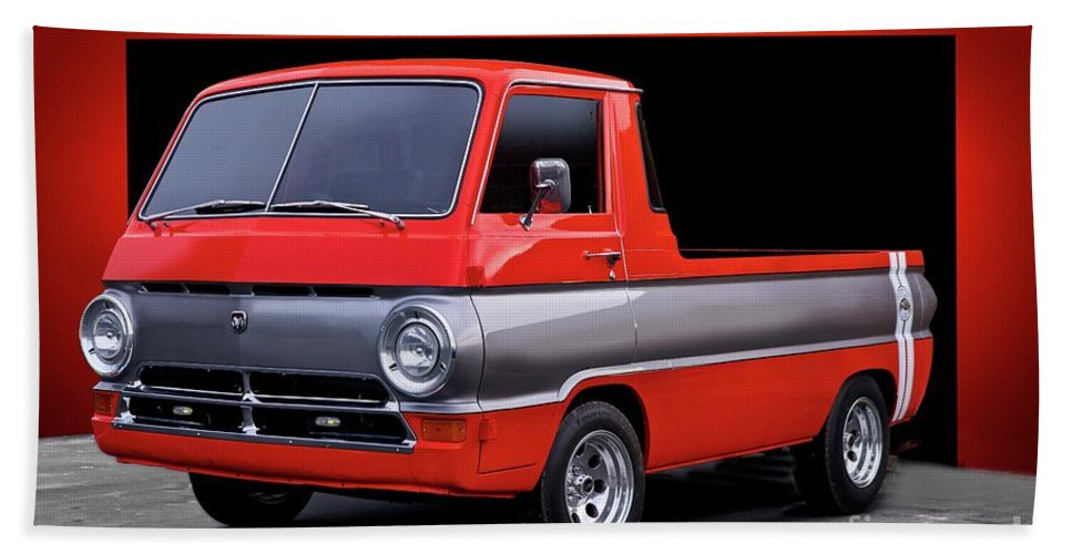 Automobile Hand Towel featuring the photograph 1966 Dodge A100 Pickup by Dave Koontz