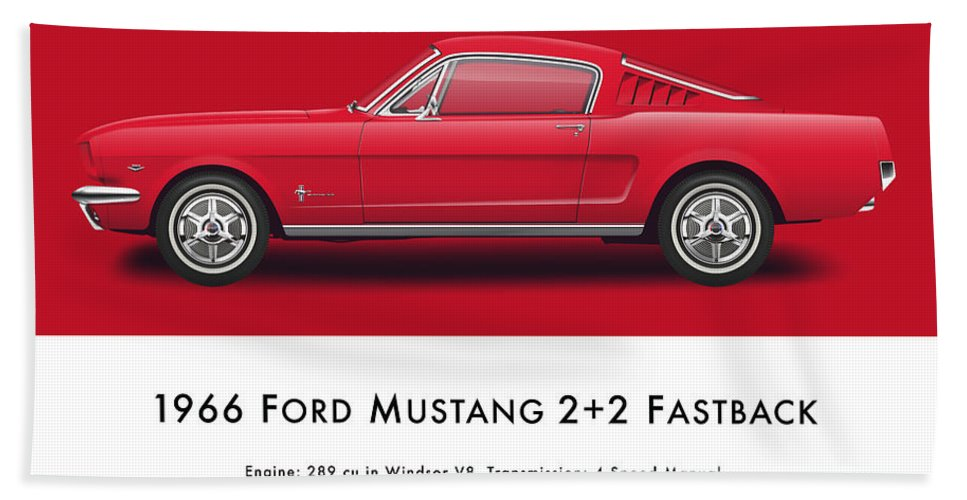 1966 Ford Mustang Fastback Bath Towel