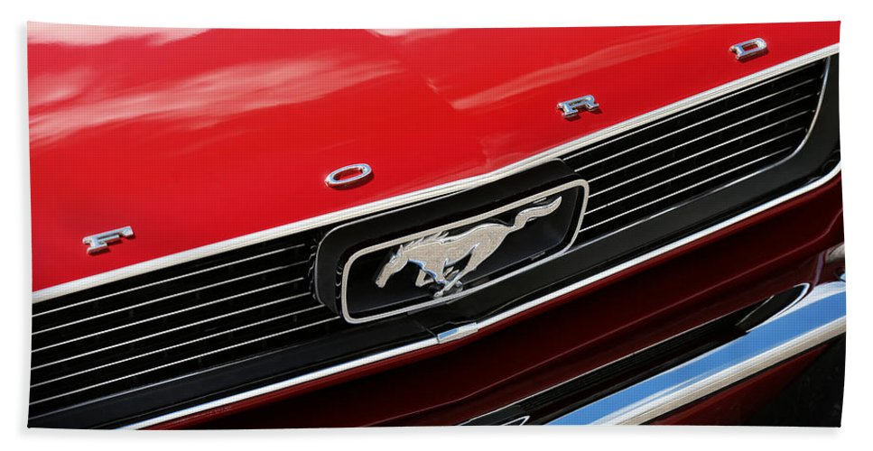 1966 Bath Towel featuring the photograph 1966 Ford Mustang by Gordon Dean II