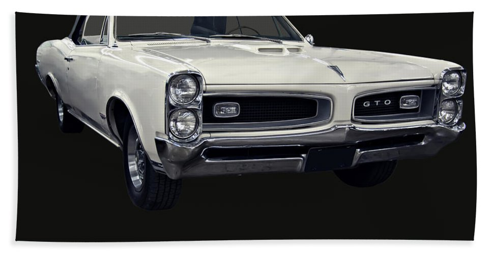 1960s Cars Hand Towel featuring the photograph 1966 Pontiac Gto Convertible by Chris Flees