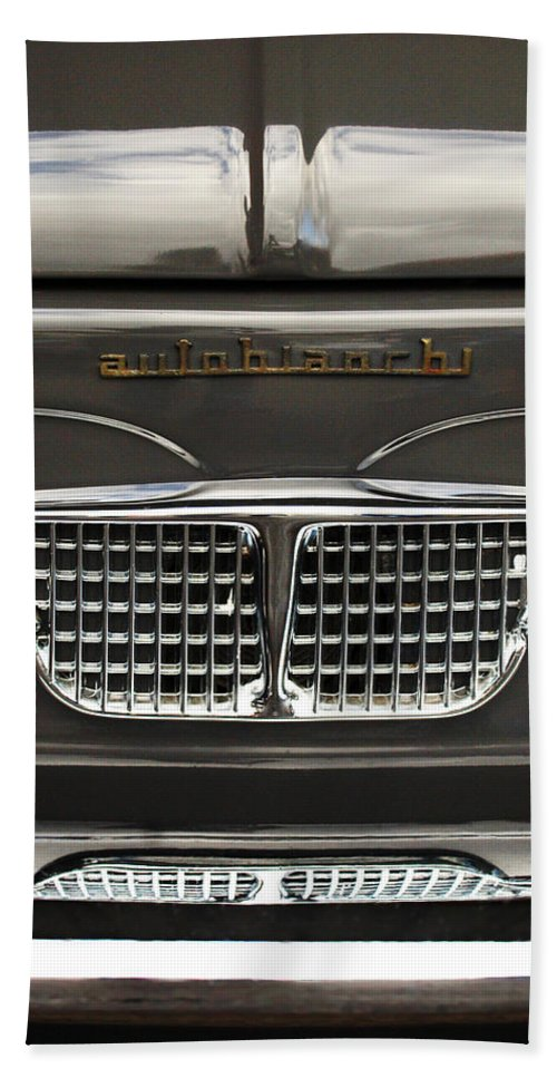 Car Bath Sheet featuring the photograph 1967 Autobianchini Special Italy Grille by Jill Reger