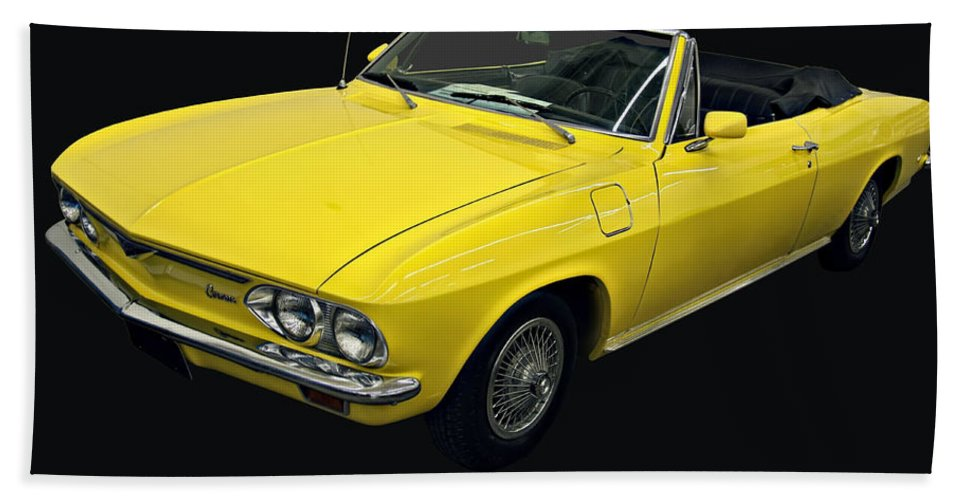 1960s Cars Bath Sheet featuring the photograph 1967 Chevy Corvair Monza by Chris Flees