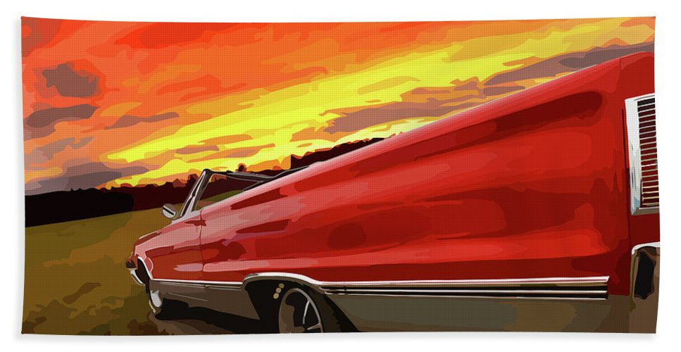426 Bath Towel featuring the photograph 1967 Plymouth Satellite Convertible by Gordon Dean II