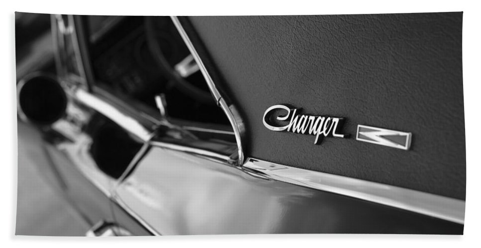 1968 Hand Towel featuring the photograph 1968 Dodge Charger R/t by Gordon Dean II