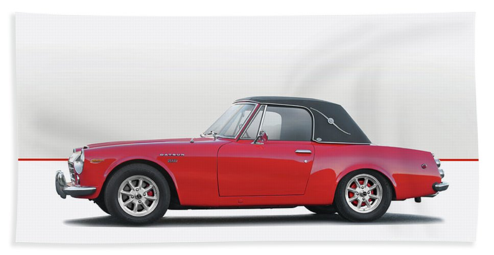 Auto Bath Sheet featuring the photograph 1969 Datsun 2000 Roadster I by Dave Koontz
