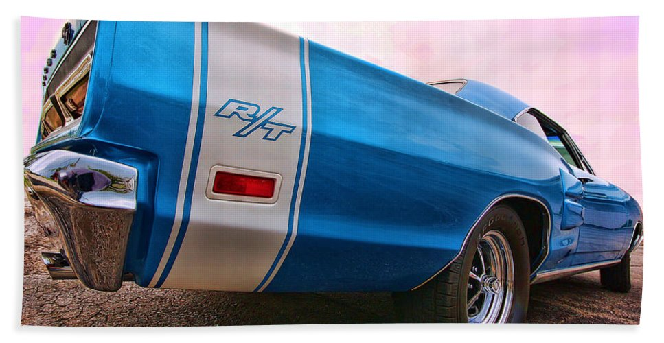 1969 Hand Towel featuring the photograph 1969 Dodge Coronet Rt by Gordon Dean II