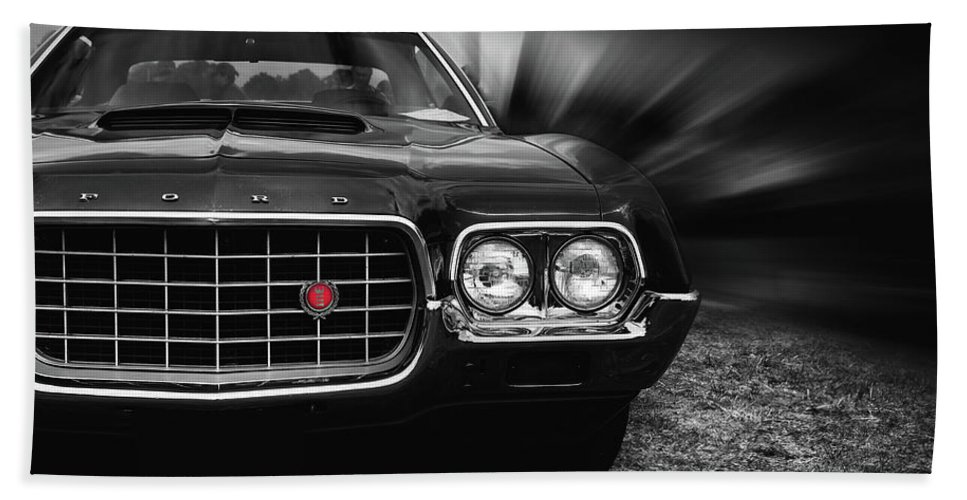1972 Ford Gran Torino Hand Towel featuring the photograph 1972 Ford Gran Torino, Sport Fastback by Hotte Hue
