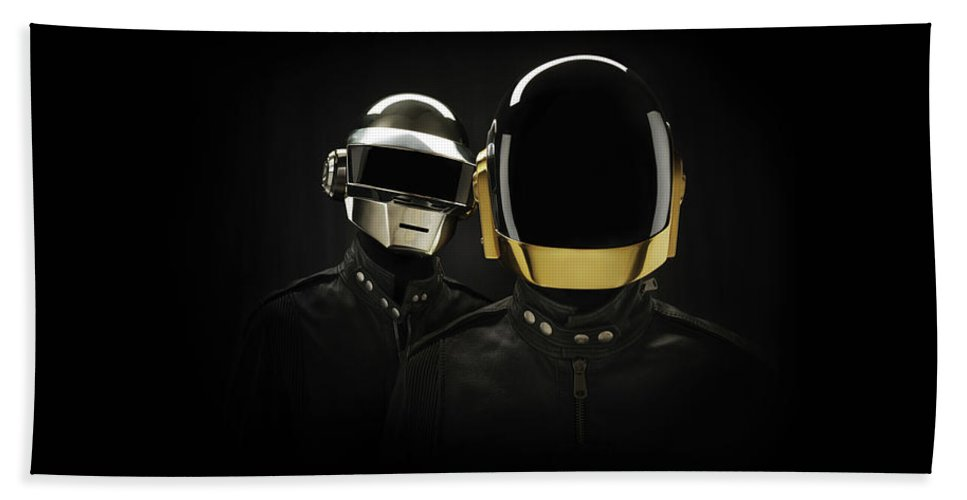 Daft Punk Hand Towel featuring the digital art 19863 Daft Punk by Anne Pool