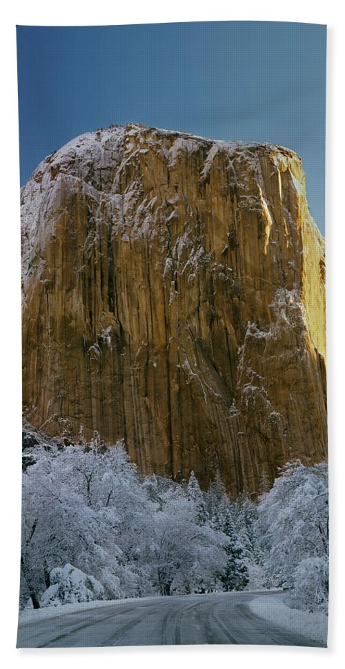 Winter Hand Towel featuring the photograph 1m6576-winter On El Capitan In 1970 by Ed Cooper Photography