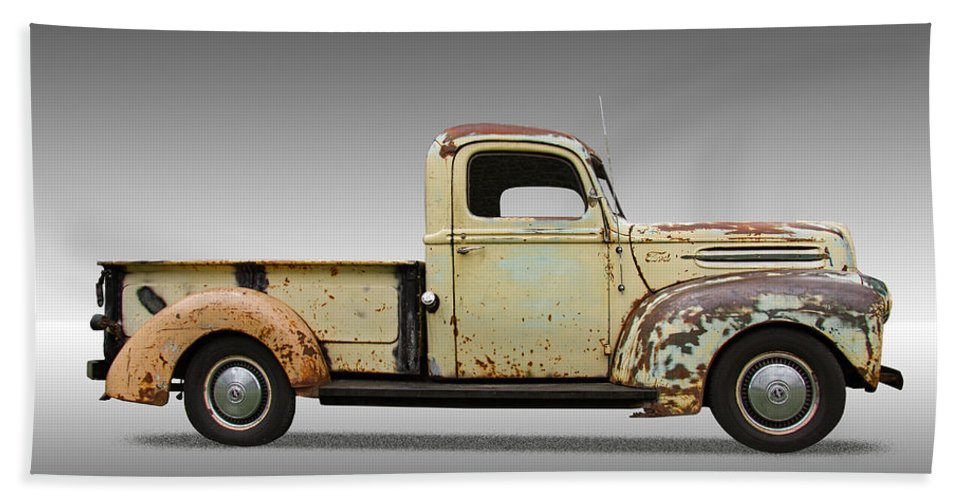 1946 Bath Sheet featuring the photograph 1946 Ford Pickup Truck by Nick Gray