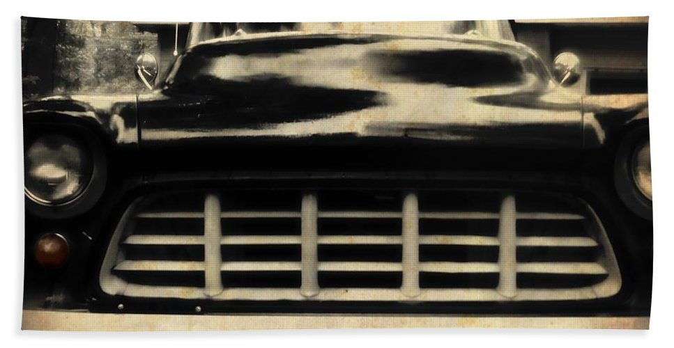 Cheyy Bath Towel featuring the photograph 1957 Chevy by JAMART Photography