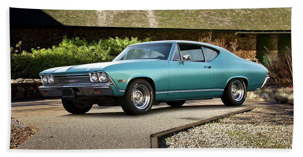 Automobile Hand Towel featuring the photograph 1968 Chevelle Malibu I by Dave Koontz