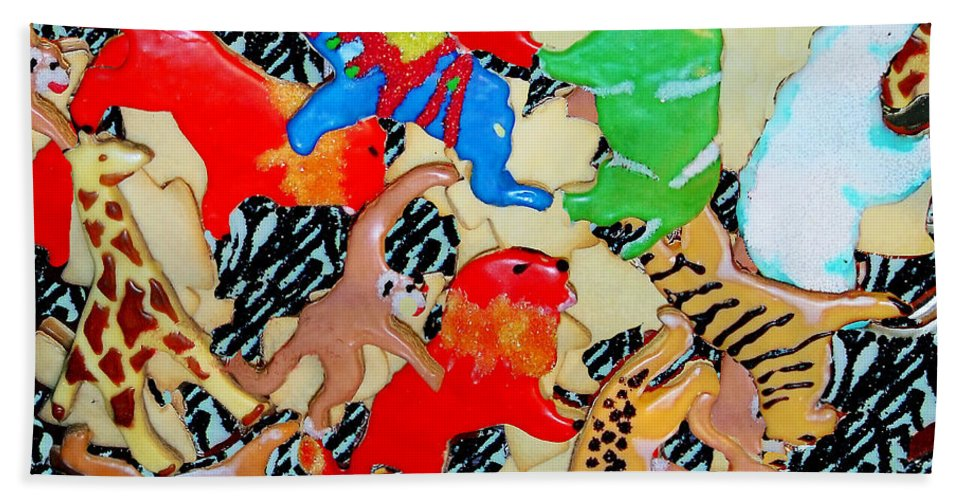 Cookies Hand Towel featuring the photograph Animal Cookies by Madeline Ellis
