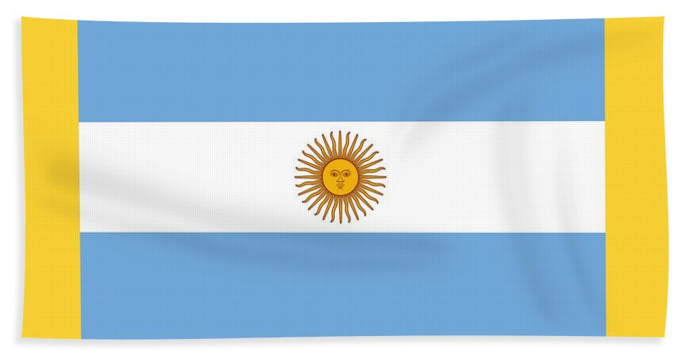 Flag Hand Towel featuring the digital art Argentina Flag by Frederick Holiday