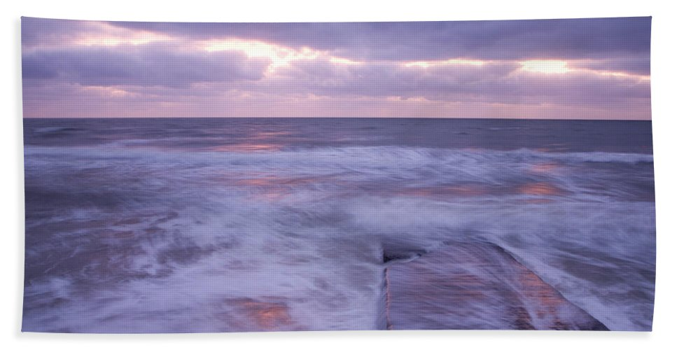 Travel Hand Towel featuring the photograph Ballyconnigar Strand At Dawn by Ian Middleton