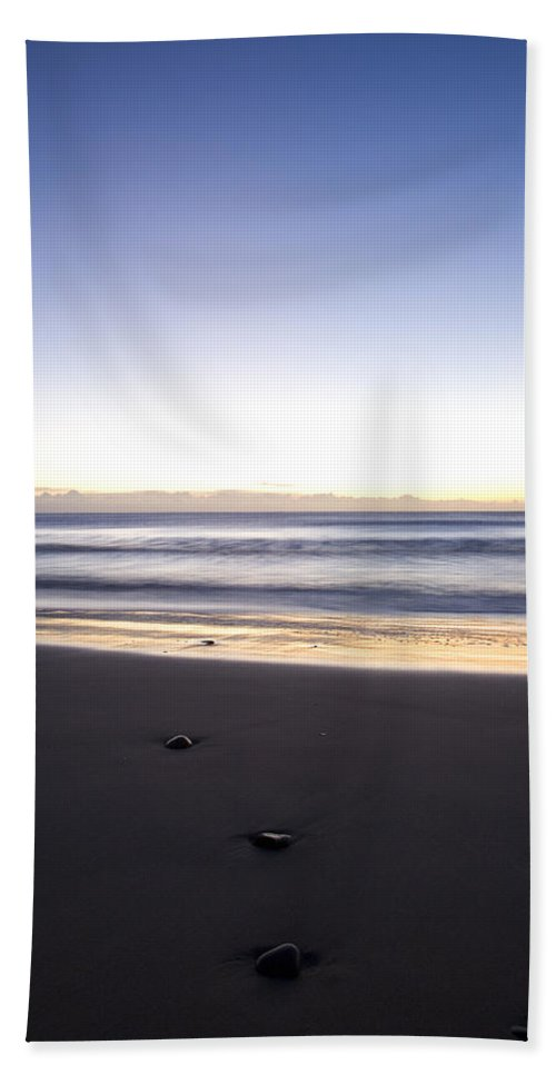 Travel Hand Towel featuring the photograph Ballynaclash Beach At Dawn by Ian Middleton