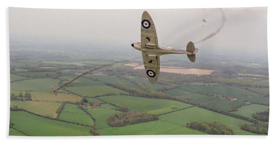 Spitfire Bath Sheet featuring the photograph Battle Of Britain Spitfire by Gary Eason