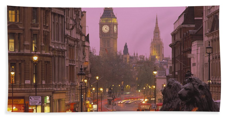 Photography Bath Sheet featuring the photograph Big Ben London England by Panoramic Images