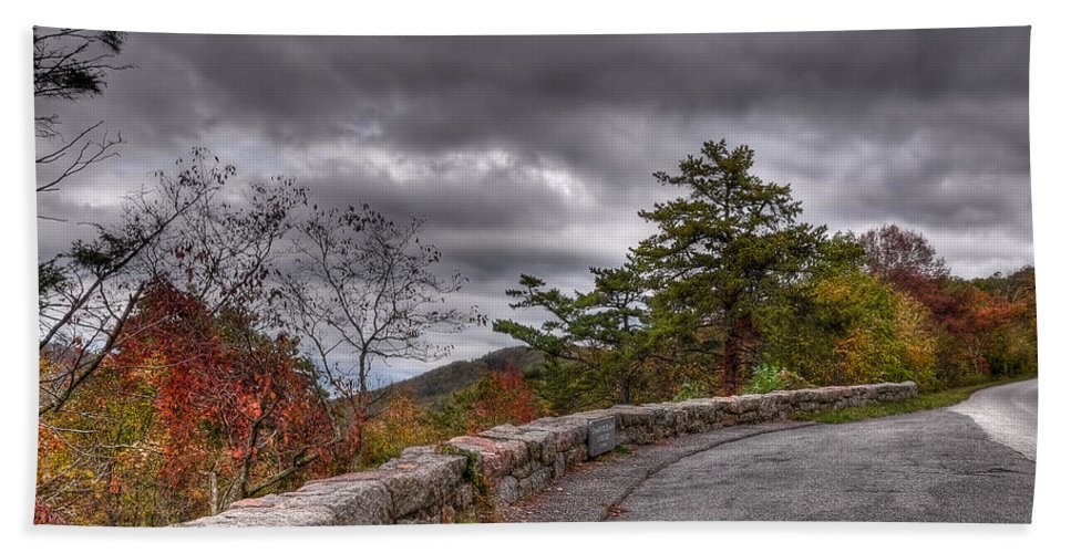 Blue Ridge Parkway Hand Towel featuring the photograph Blue Ridge Parkway by Todd Hostetter