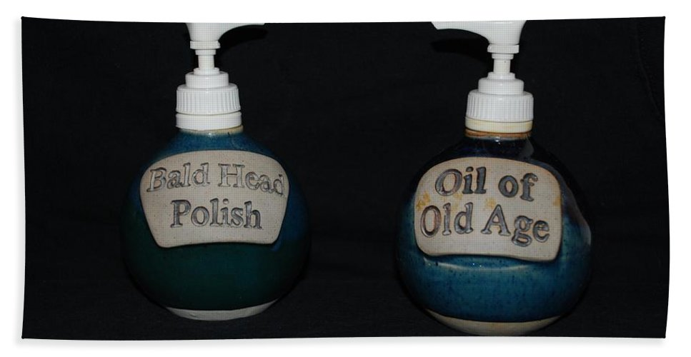 Bathroom Bath Towel featuring the photograph 2 Bottles by Rob Hans