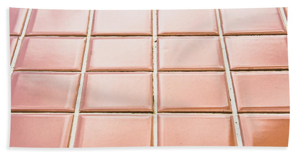 Abstract Hand Towel featuring the photograph Brown Tiles by Tom Gowanlock