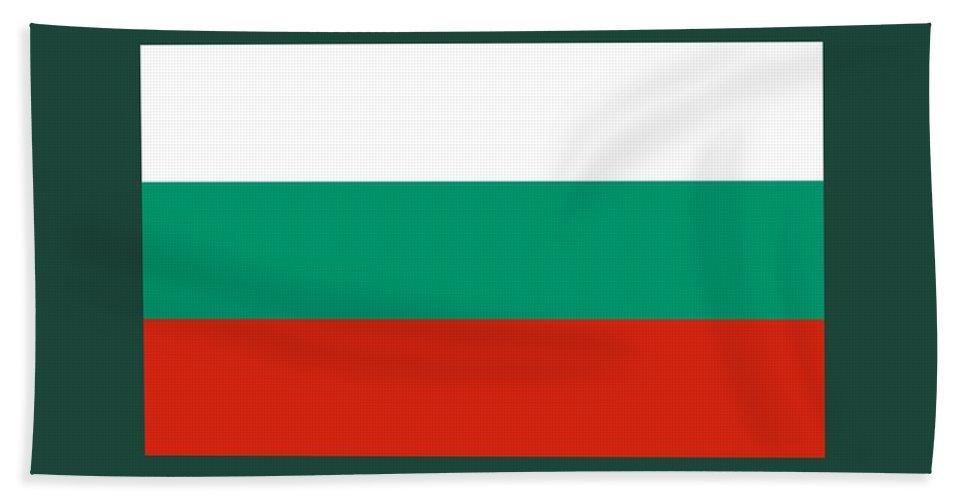 Banner Bath Sheet featuring the digital art Bulgaria Flag by Frederick Holiday