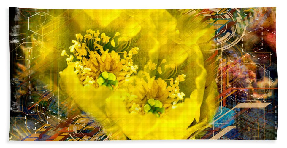 Flower Hand Towel featuring the photograph Cactus Flower by Larry White