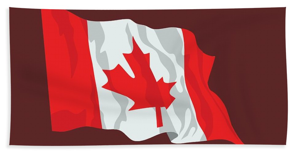 Flag Hand Towel featuring the digital art Canada Flag by Frederick Holiday