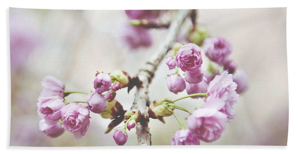 Cherry Blossom Hand Towel featuring the photograph Cherry Blossoms by Ivy Ho