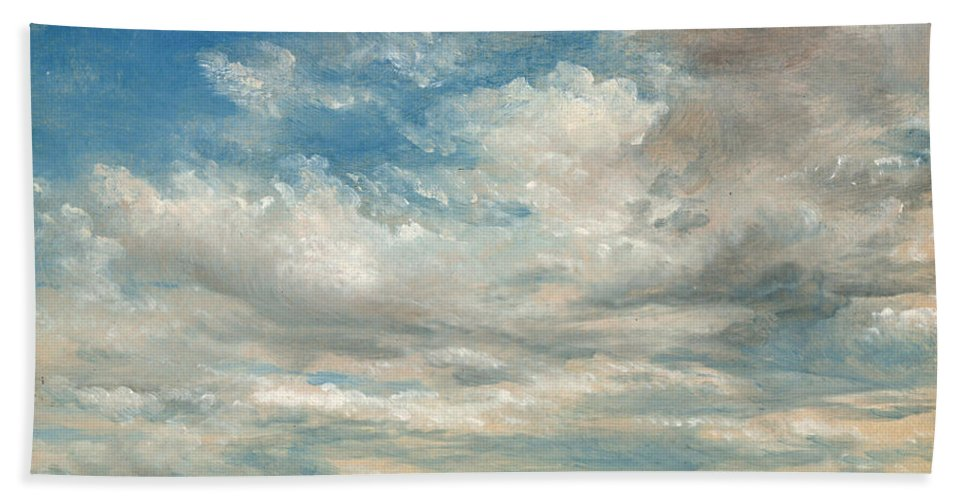 John Constable Bath Sheet featuring the painting Clouds by John Constable