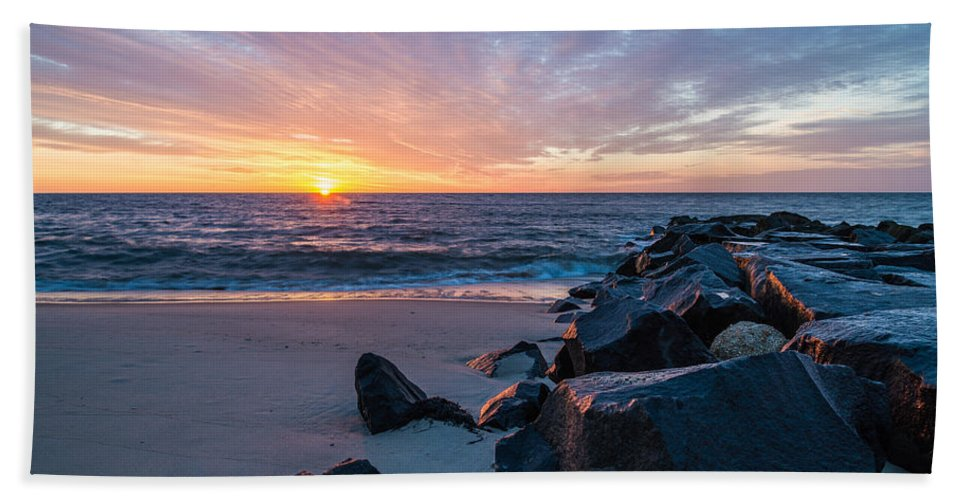 New Jersey Hand Towel featuring the photograph Colorful Start by Kristopher Schoenleber