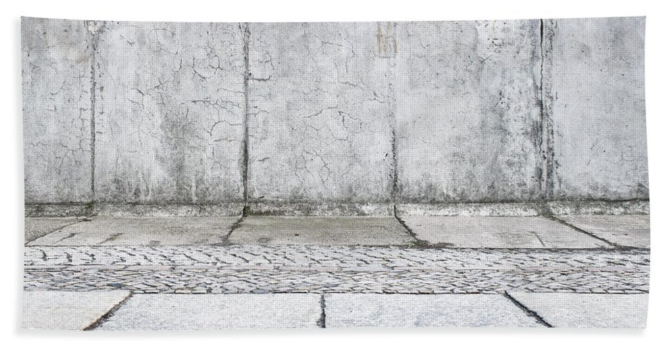 Abstract Hand Towel featuring the photograph Concrete Background by Tom Gowanlock
