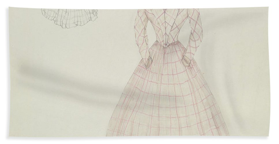 Hand Towel featuring the drawing Dress by Arelia Arbo