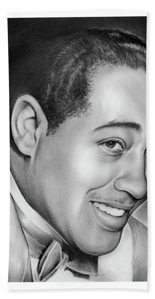 Jazz Hand Towel featuring the drawing Duke Ellington by Greg Joens