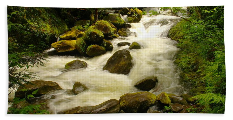 Rivers Hand Towel featuring the photograph Eagle Creek by Jeff Swan