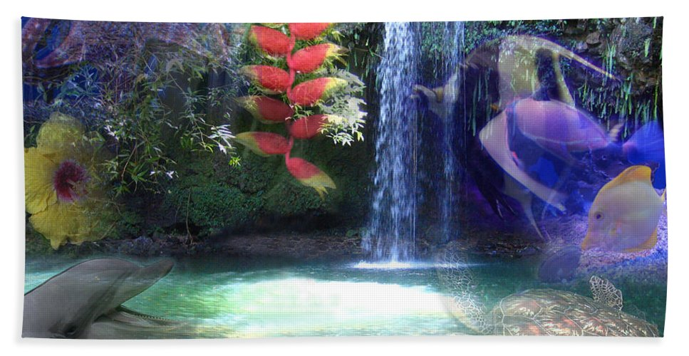 Waterfall Bath Sheet featuring the photograph Favorite Things by Angie Hamlin