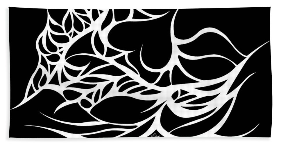 White Hand Towel featuring the digital art Final Tabulation by Jamie Lynn