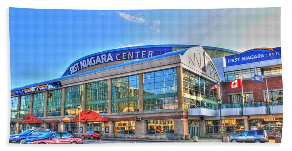 First Niagara Center Bath Sheet featuring the photograph First Niagara Center by Michael Frank Jr