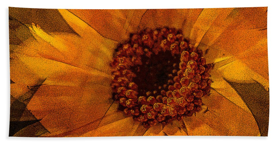 Flower Hand Towel featuring the photograph 10449 Flower by Colin Hunt