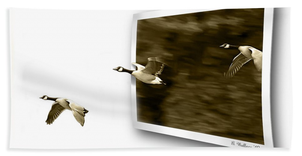 2d Bath Sheet featuring the photograph Follow The Leader by Brian Wallace