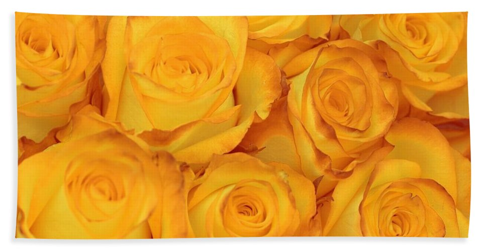 Rose Bath Sheet featuring the photograph Fragile Fire by JAMART Photography
