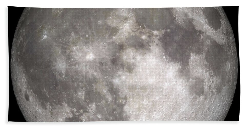 Digital Composite Bath Sheet featuring the photograph Full Moon by Stocktrek Images