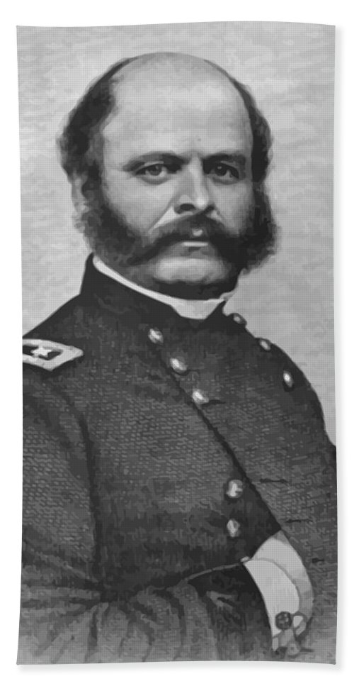 Ambrose Burnside Bath Towel featuring the painting General Burnside by War Is Hell Store