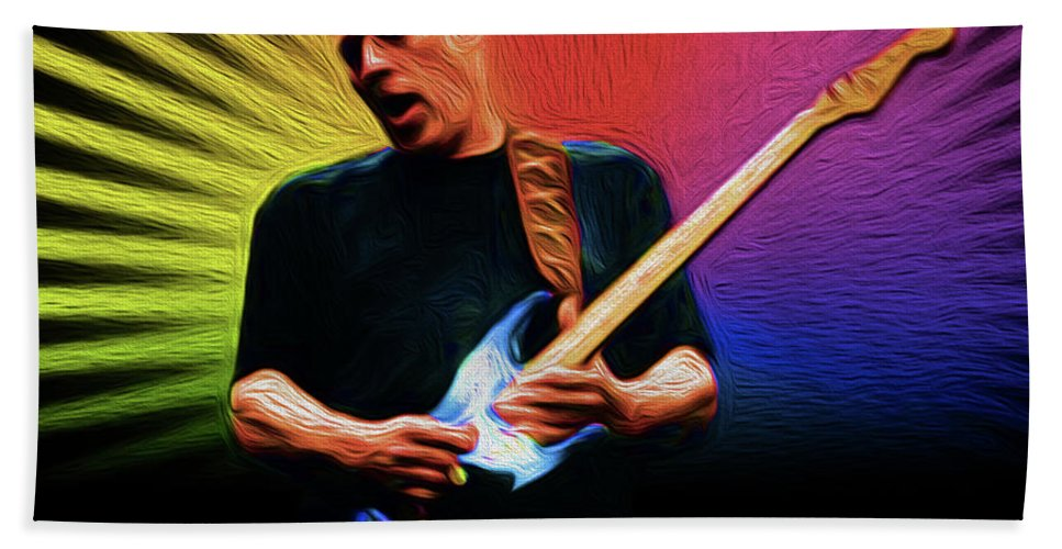 David Gilmour Pink Floyd Music Singer Rock & Roll Copyright � 2016 Nixo. All Rights Reserved.nicholas Nixo Efthimiou Nixo Tote Bag Pouches Portable Battery Charges Towels Beach Towels Bath Towels Round Beach Towels T-shirt Phone Cases Duvet Covers Shower Curtains Throw Pillow Greeting Cards Hand Towel featuring the painting Gilmour Nixo by Never Say Never