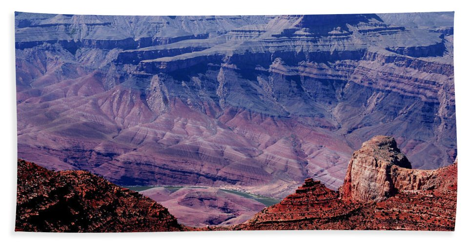 Grand Canyon Bath Sheet featuring the photograph Grand Canyon View by Susanne Van Hulst