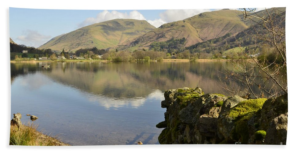 Grasmere Lake District Hand Towel featuring the photograph Grasmere by Smart Aviation